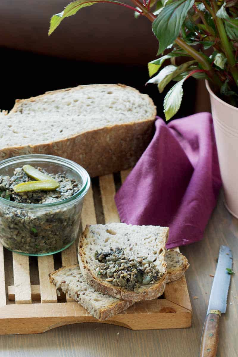 Rillettes végétariennes aux lentilles et champignons (vegan)