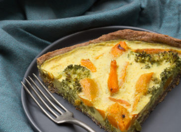 Quiche au brocoli et potimarron (vegan)