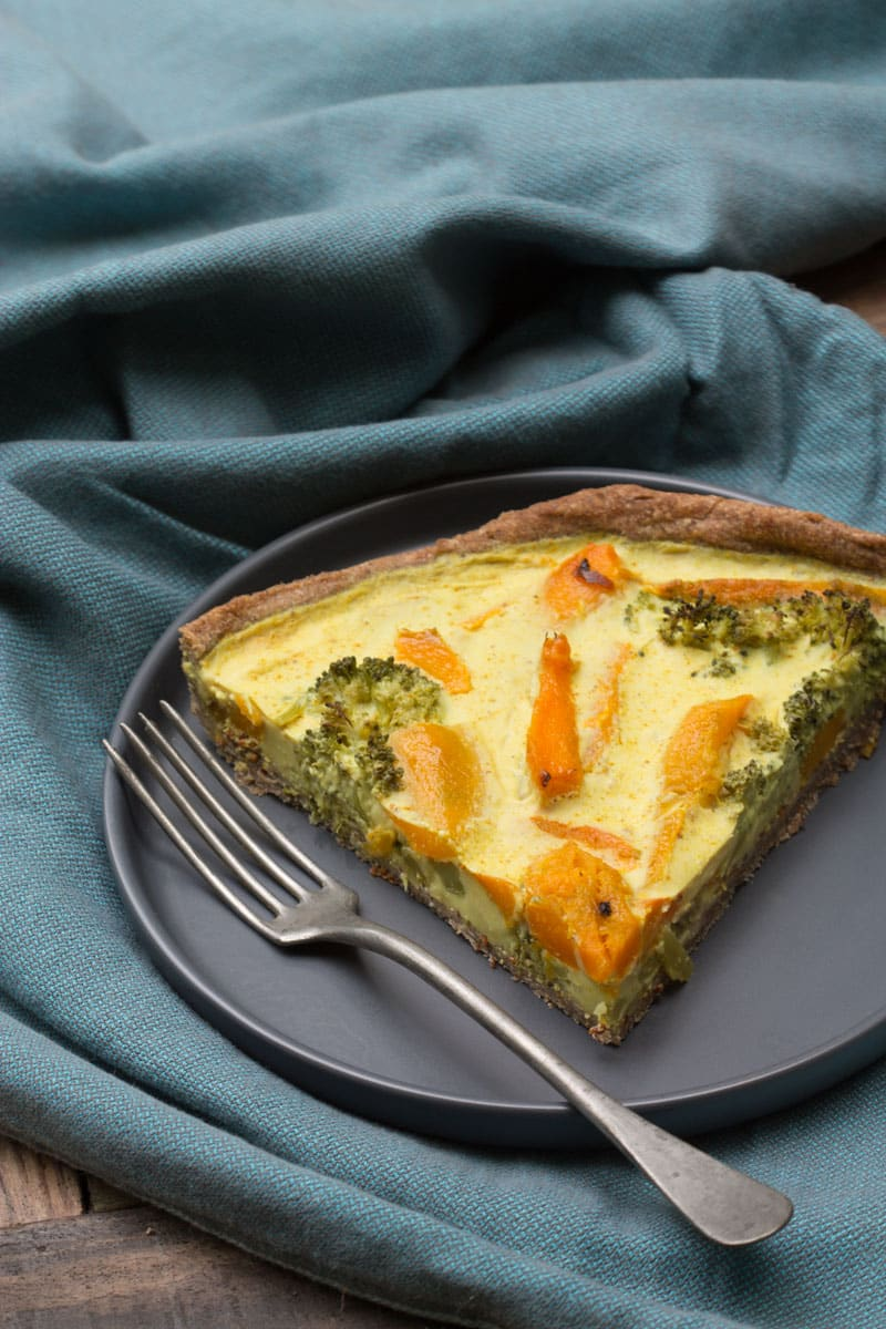 Quiche au brocoli et potimarron