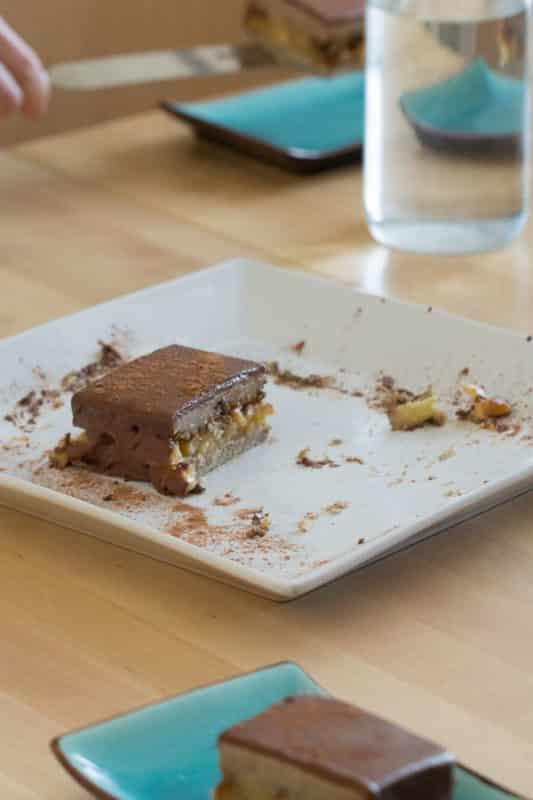 Tarte au chocolat blanc et aux amandes