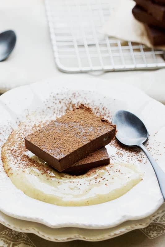 carrés fondants au chocolat