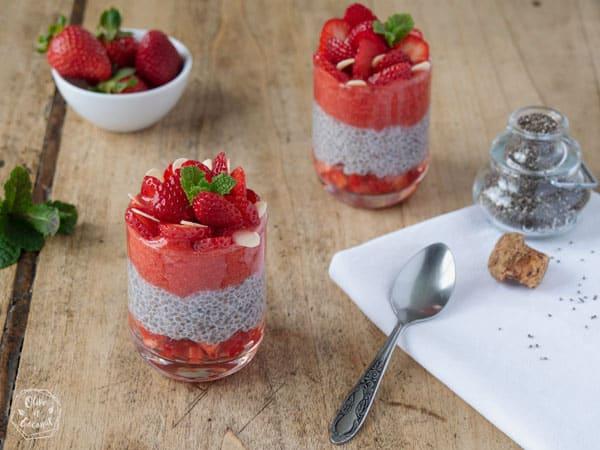 Pudding de chia aux fraises