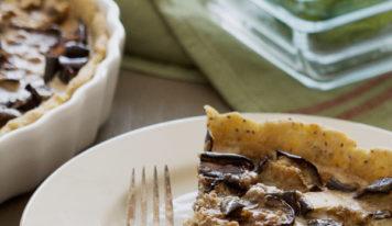 Quiche à l'aubergine, pois chiches et cumin (vegan, sans gluten)