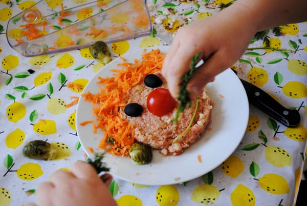 Risotto de chou-fleur «bonhomme» (vegan, sans gluten)