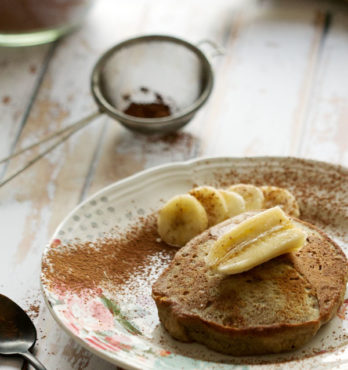 Pancakes moelleux à la banane (vegan, sans gluten)