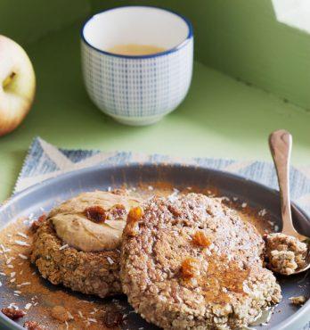Pancakes aux flocons d'avoine express ~ 4 ingrédients {vegan, sans gluten)