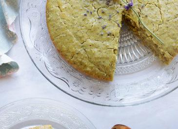 Gâteau au citron combava et graines de chia (sans gluten, vegan)