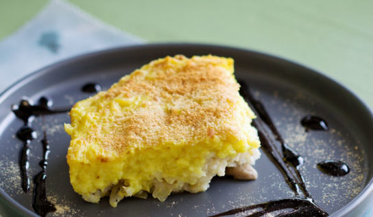 Parmentier végétarien de riz, lentilles corail et champignons, panais et lait de coco (sans gluten, vegan)