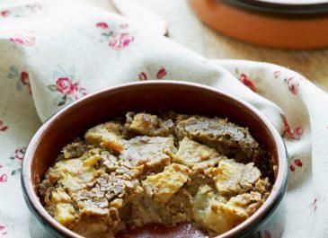 Clafoutis sans sucre ajouté aux pommes et aux poires (sans gluten, vegan)