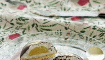 Mon repas de Noël éthique et gourmand : tourte automnale et dômes coco, banane, ananas {vegan, sans gluten}