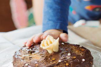 Smash cake vegan et sans gluten au chocolat (vegan, sans gluten)