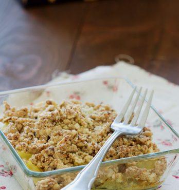 Crumble salé maison au fenouil et à la courgette (vegan, sans gluten)