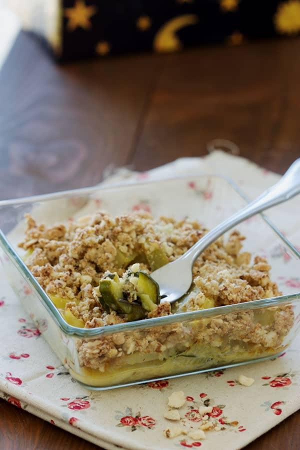 Crumble salé maison sans gluten au fenouil et à la courgette