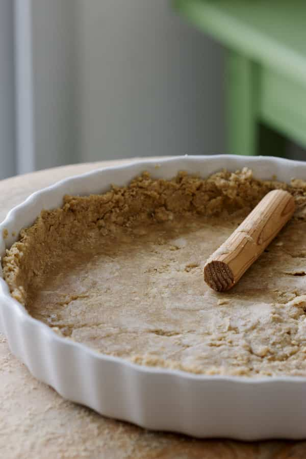 Pâte brisée sans farine, à base de flocons d'avoine mixés (vegan, sans gluten)