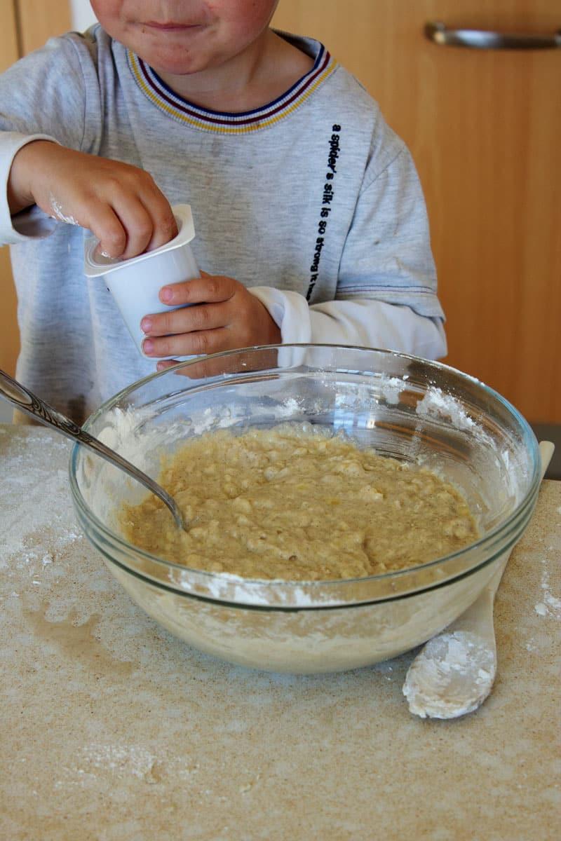 Cuisiner avec mon enfant gâteau banane sans gluten