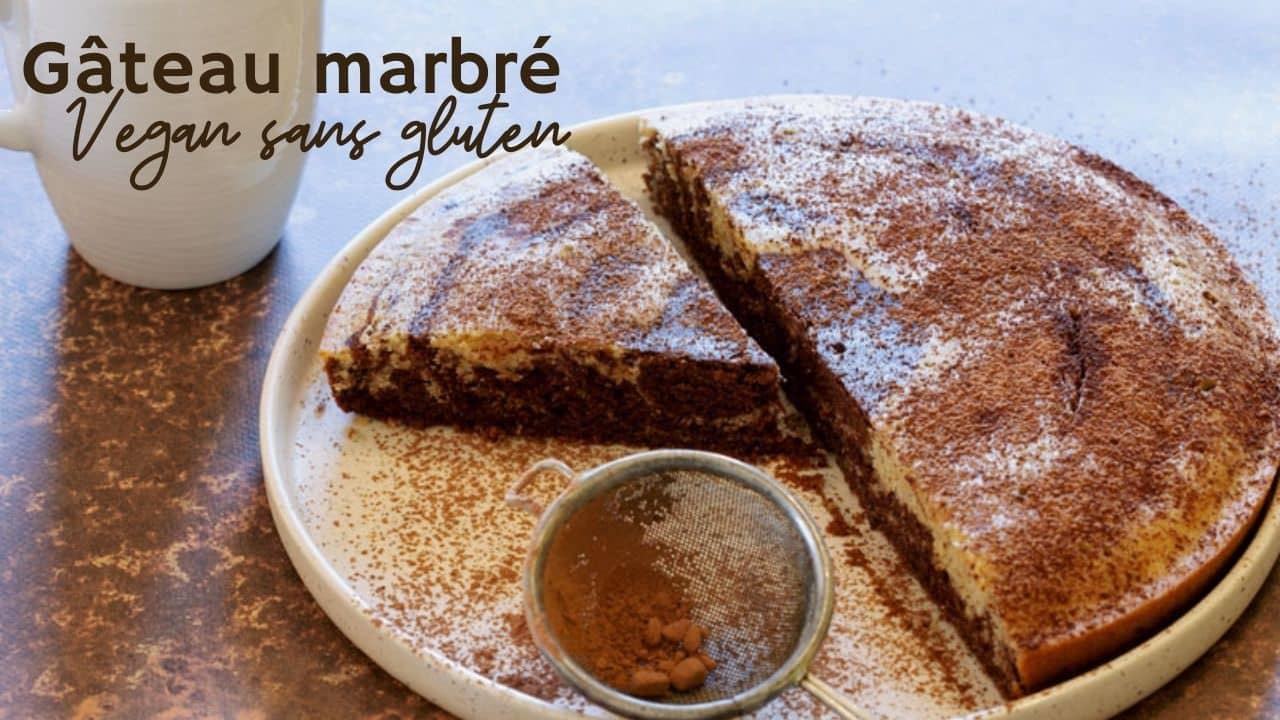 Gâteau marbré vegan sans gluten