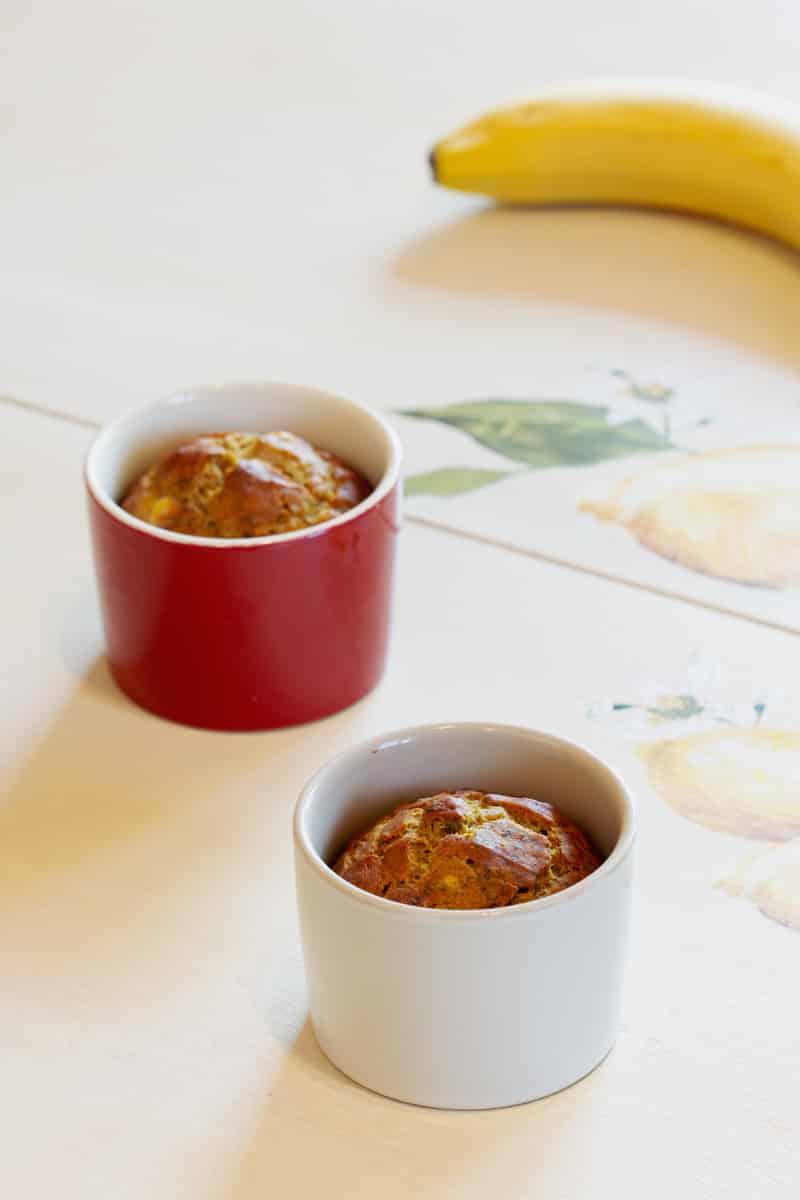 Mugcake au four banane cannelle